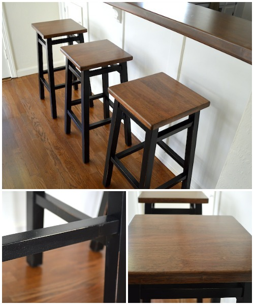 Bar Stool Makeover Details at An Oregon Cottage