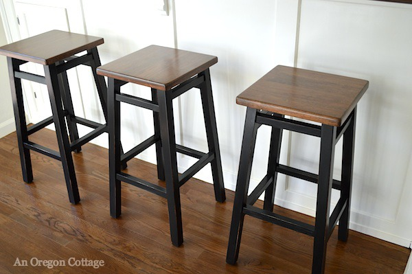 Simple Bar Stools Makeover at An Oregon Cottage