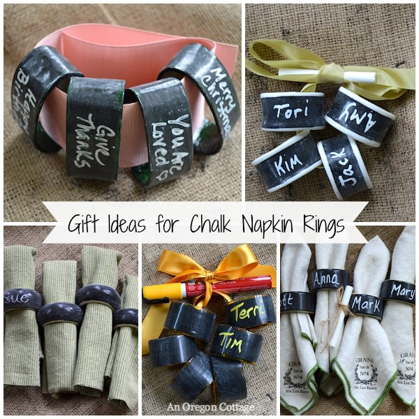 Chalkboard Napkin Rings from Thrift Store Finds Make a Great Gift! An Oregon Cottage
