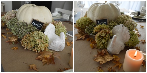Chalkboard & Gold Thanksgiving Pumpkin Centerpiece- An Oregon Cottage