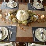 Chalkboard & Gold Thanksgiving Tablescape- An Oregon Cottage