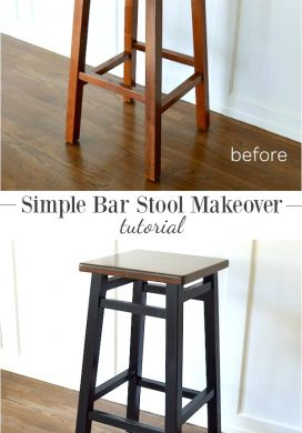 Simple Bar Stool Makeover & Tutorial