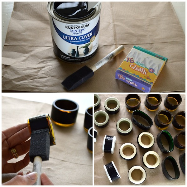 Making Chalkboard Napkin Rings from Thrift Store Finds An Oregon Cottage