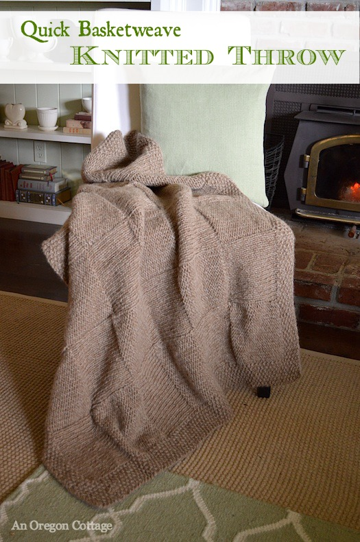 Quick Basketweave Knitted Throw Pattern | An Oregon Cottage