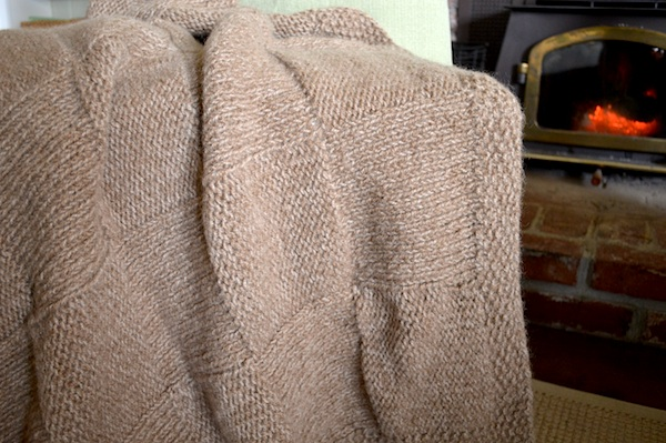 Knitted Throws Patterns : Quick Basketweave Knitted Throw Pattern