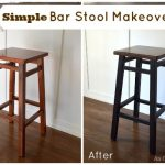 Simple Bar Stool Makeover Before-After | An Oregon Cottage