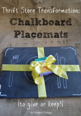 Thrift Store Transformation-Chalkboard Placemats :: An Oregon Cottage