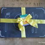 Thrifted Chalkboard Placemats | An Oregon Cottage
