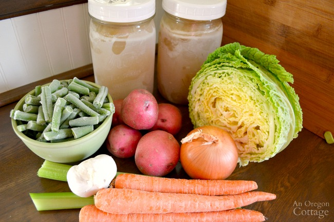 Bone Broth Chicken Vegetable Soup ingredients