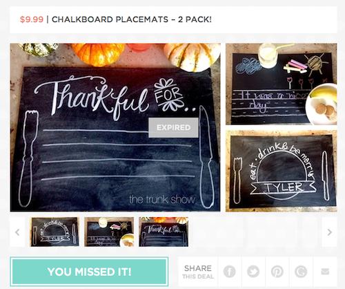 jane chalkboard placemats