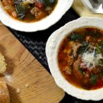 slow cooker sausage bean soup