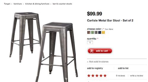 target metal stools