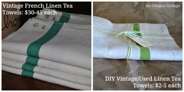 DIY Linen Towel Comparison - An Oregon Cottage