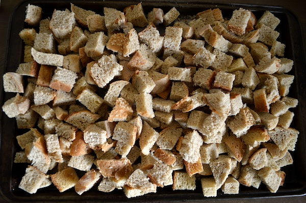 Homemade Bread Cubes for Sausage-Cranberry Stuffing - An Oregon Cottage