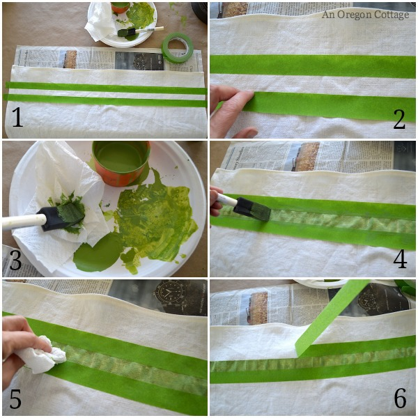 How to Paint a Linen Tea Towel - An Oregon Cottage