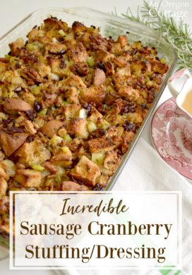 Incredible Sweet & Savory Sausage Cranberry Stuffing Dressing Recipe