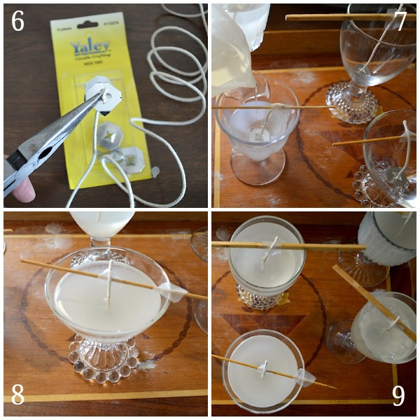 Making Thrifted Glass Goblet Candles - An Oregon Cottage