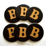 PB-Inspired Monogram Coasters- An Oregon Cottage