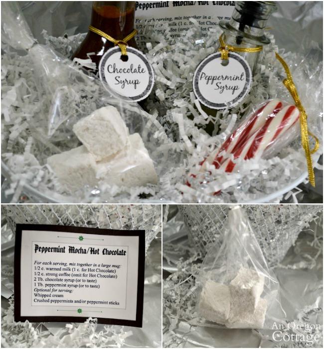 Peppermint Mocha gift basket details