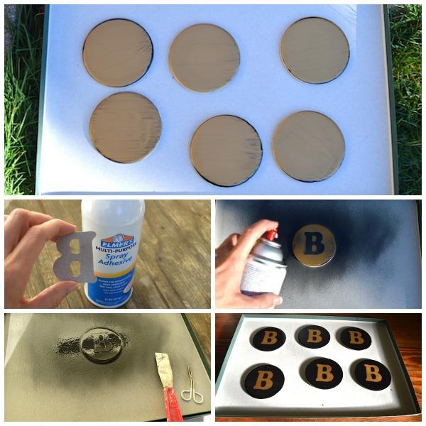 Steps to Make Black-Gold Monogrammed Coasters- An Oregon Cottage