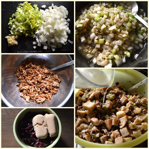 Sweet and Savory Sausage-Cranberry Dressing Ingredients - An Oregon Cottage