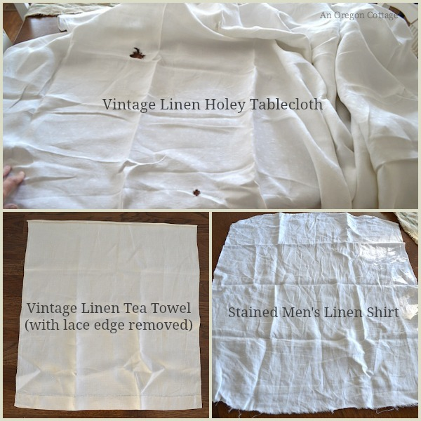 Vintage Linen to Use for Tea Towels - An Oregon Cottage