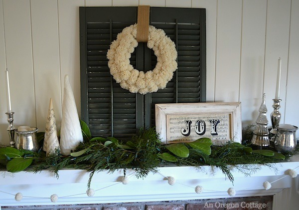 Green & White Christmas Decor