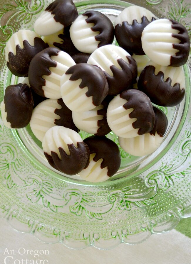 cream cheese mints above