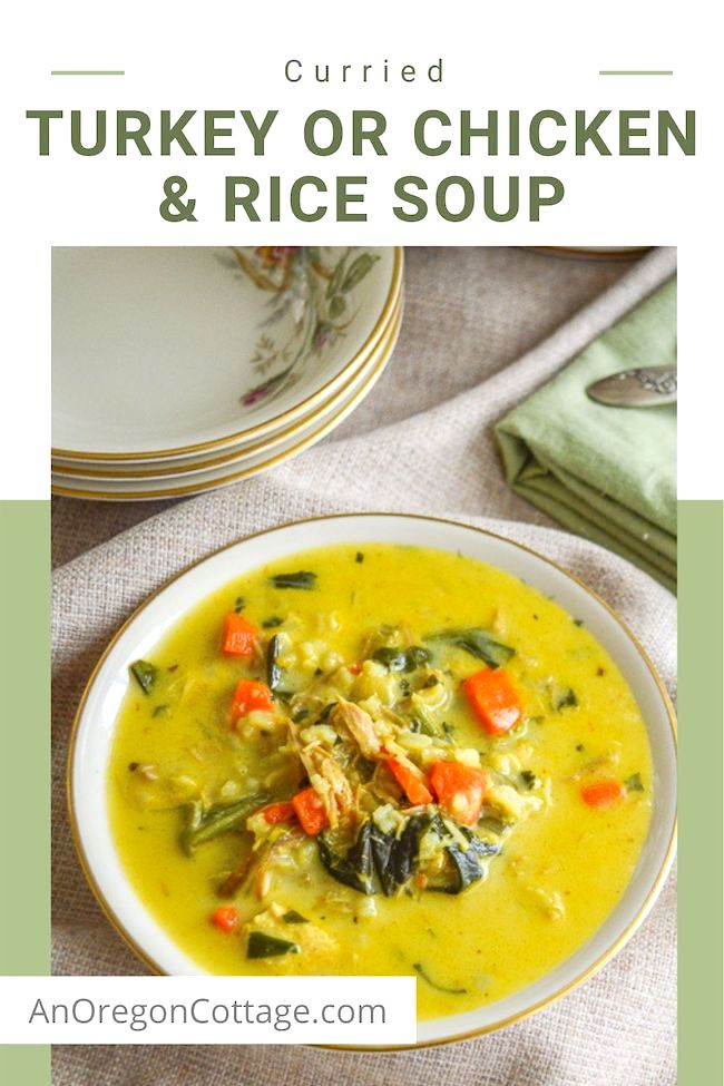 curried turkey or chicken rice soup