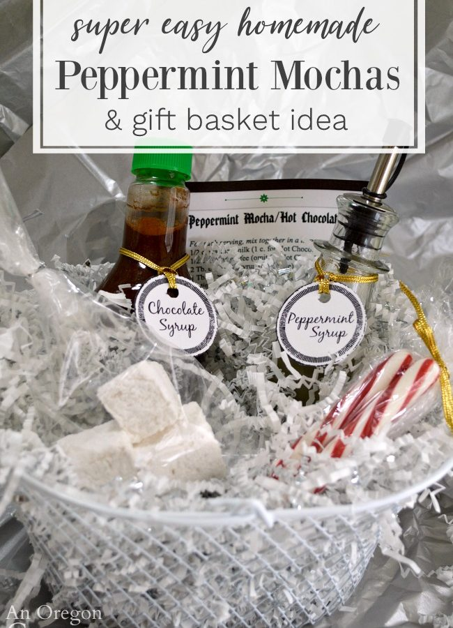 Homemade Peppermint mocha gift basket