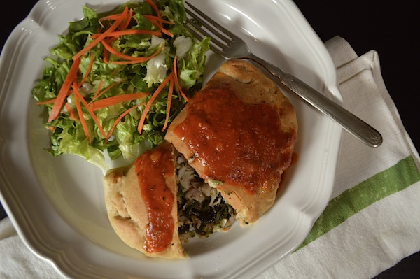 1 Hour Chicken-Spinach Calzone - An Oregon Cottage