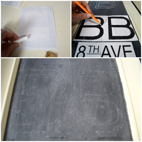 Chalk Transfer for RH Chalkboard Subway Sign - An Oregon Cottage