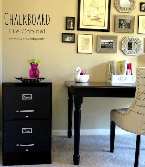 Chalkboard Filing Cabinet Upcycle - Live Love DIY