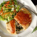 Chicken spinach calzone
