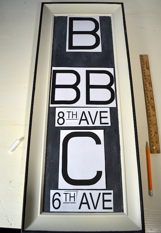 Fonts for RH Chalkboard Subway Sign - An Oregon Cottage
