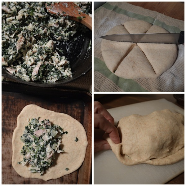 Making Easy Chicken-Spinach Calzones - An Oregon Cottage