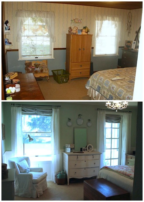 Master Bedroom Remodel Before-After - An Oregon Cottage