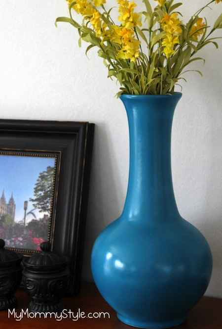 Painted Thrifted Vase - My Mommy Style