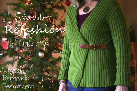 Refashion a Thrifted Sweater - The Renegade Seamstress