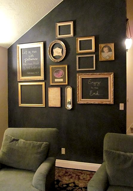 Thrifted Gold Frame Chalkboard Wall - Michelle Hunt