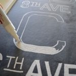 Using Chalk Marker on RH Chalkboard Subway Sign - An Oregon Cottage