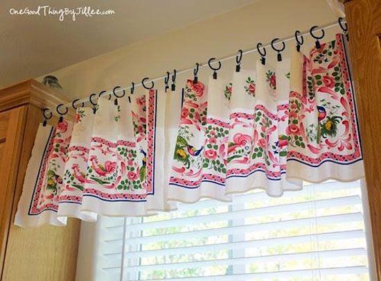 Valance From Thrifted Tablecloth - One Good Thing By Jillee