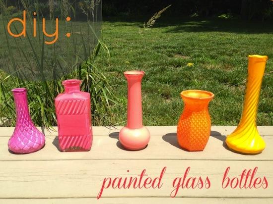 diy painted glass bottles - Indiana U LaLa