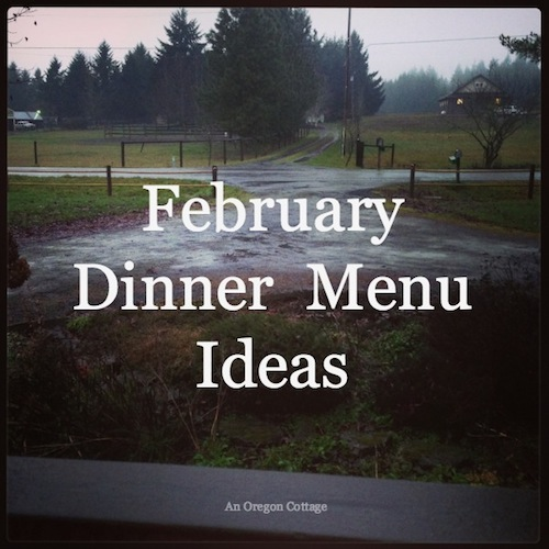 February Dinner Menu Ideas