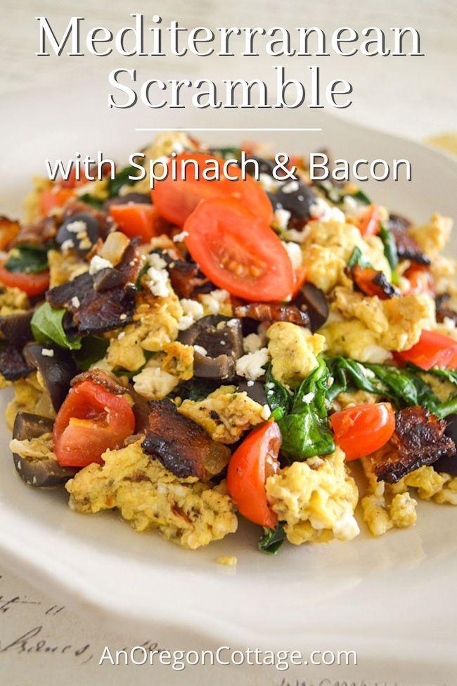Mediterranean egg scramble