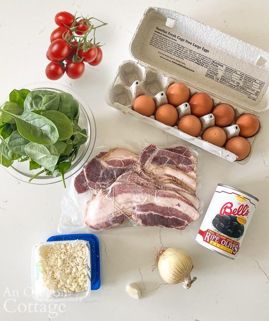 Mediterranean scramble ingredients