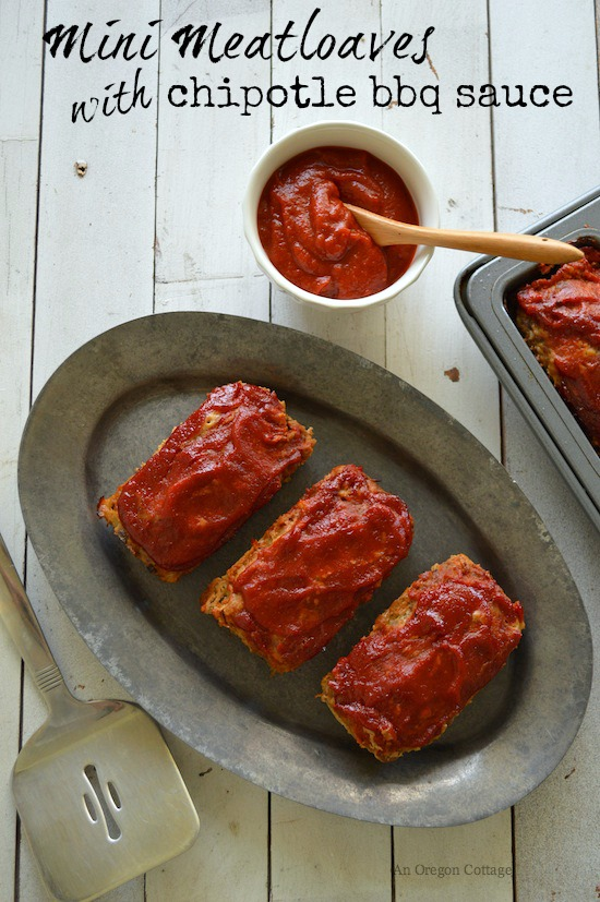 Quick Mini Meatloaves With Chipotle-Honey BBQ Sauce
