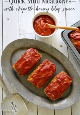 Mini Meatloaves with Chipotle-Honey BBQ sauce