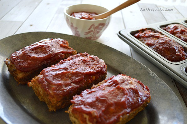 Mini Meatloaves with Chipotle BBQ Sauce cook up in half the time as regular meatloaves and are easier to serve.