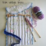 Vintage Linen Knitting Needle Holder Tutorial - An Oregon Cottage